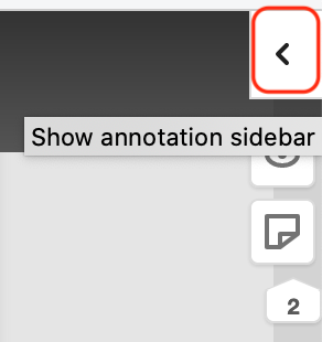 Show hypothes.is annotation sidebar.