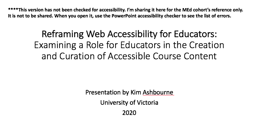 web accessibility deck with accessibility errors